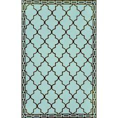 Ravella Floor Tile Aqua Outdoor Rug by Liora Manne by TransOcean