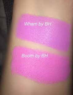 Wham and Boom by BH Pop Colour Lipstick Swatches