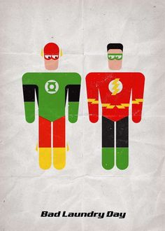 Swapped Costume Superheroes