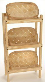 3 Basket Bakers, Crafters or Storage Rack by 8 Quart Rack w/ 3 Baskets. $94.00