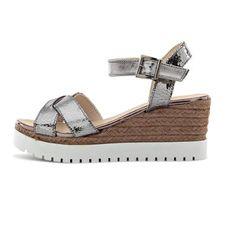 Wedge sandal Shops, Spring Summer 2016, Bohemian Style, Wedge Sandals, Wedges, Silver, Fashion, Fashion Styles, Sandals