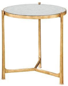 classic glass top lamp table - gilded ABC Carpet + Home NYC