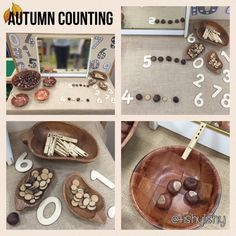 New enhancement on the number table. Conkers, pegs, bowls and branch discs.