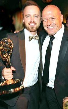Breaking Bad - Aaron Paul & Dean Norris (and Aaron's 2nd emmy)