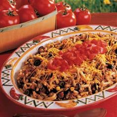 Meaty Mac 'n' Cheese Recipe -My husband is disabled and requires constant care. This doesn't leave me a lot of time to cook, so I came up with this tasty way to beef up a box of macaroni and cheese. The hearty mixture gets extra flavor from corn, ripe olives and zippy salsa. -Charlotte Kremer, Pahrump, Nevada