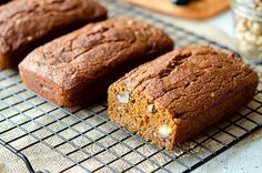 Moist, sweet, chewy, delicious Pumpkin Banana Nut Bread. Spread with your favorite vegan cream cheese or margarine and call it breakfast!