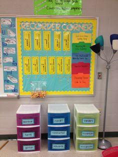 Recorder Corner! Bulletin Board for Elementary Music Classroom