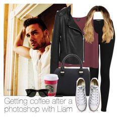 """Getting coffee after a photoshop with Liam"" by style-with-one-direction ❤ liked on Polyvore featuring Payne, Topshop, Monki, Mulberry, Victoria Beckham, Converse, Ray-Ban, women's clothing, women's fashion and women"