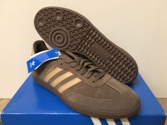 ADIDAS GAZELLE BNWT MENS TRAINERS SUEDE IN BROWN RED & BLUE ALL SIZES 7 TO 12