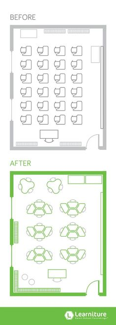 Classroom seating ideas layout small groups 30 ideas for 2019 Classroom Layout, Classroom Design, Classroom Decor, Classroom Seats, Classroom Furniture, School Furniture, Office Furniture, Furniture Decor, Classroom Architecture