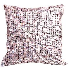 """Morgana Pillow, 20"""" x 20"""" from the DCI Studio event at Joss and Main!  Polyester & Taffeta, w/ iridescent embellishments, plum hue fabric.   Orig Retail $430. (I'm serious, that's what it said!!)   This Event $90."""