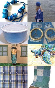 GRATITUDE in BLUE by Tina St. John on Etsy--Pinned with TreasuryPin.com