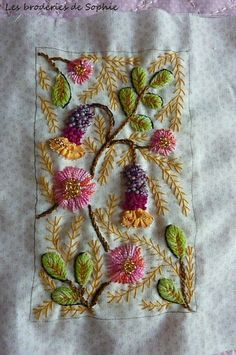 ♒ Enchanting Embroidery ♒  embroidered clover & thistles