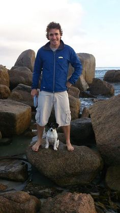 Watson and I having a huge jol rock-hopping and searching for mischief ~ finding plenty! Rock Pools, Beach Tops, Beach Day, West Coast, Searching, Adventure, Dogs, Natural Pools, Search