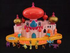 Rare Vintage Disney Polly Pocket Aladdin Jasmine Royal Palace 100%