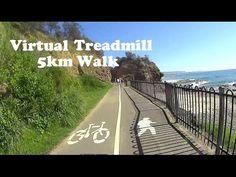 Virtual Treadmill Walk 5km / 3.1mi @ 5.9kph / 3.6mph - Wollongong, NSW Australia - YouTube