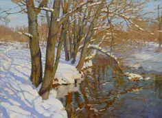 Yaroslav Zyablov. In winter on the Setun'