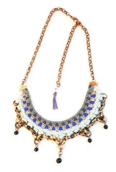 Statement Ketten - Statement Bib Halskette mit Schwarzen Perlen - ein Designerstück von gudbling bei DaWanda