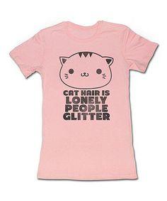 Pink 'Cat Hair' Tee - Women