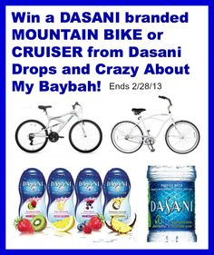 Win a Mountain Bike or Cruiser and More from Dasani Drops! #Giveaway