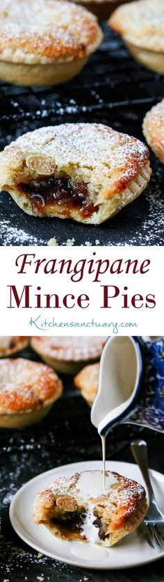 Mince Pies with homemade pastry - serve warm or cold.Frangipane Mince Pies with homemade pastry - serve warm or cold. Christmas Snacks, Xmas Food, Christmas Cooking, Christmas Cakes, Xmas Cakes, Christmas Parties, Best Mince Pies, Baking Recipes, Dessert Recipes