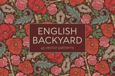 English Backyard patterns -47% OFF by Piñata on @creativemarket