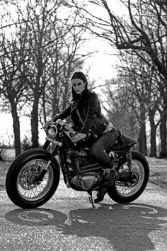 Cafe racer style- repined by http://www.vikingbags.com/ #VikingBags