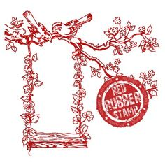 The Ivy Swing Unmounted Rubber Stamp