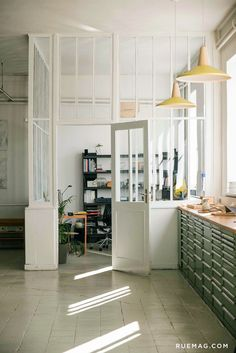 studio, home, interior, storage, office, indoor windows, dream, work space, office