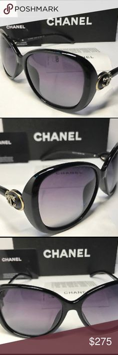 🔥2hour sale Chanel sunglasses It's a brand new black Chanel sunglasses comes with papers and box 1 unnoticeable small rhinestone missing CHANEL Accessories Glasses