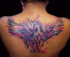 Mallory Johnstone - unicorn tattoo. Watercolor. Love it!!