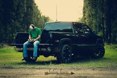 Senior boy pictures country truck baseball glove Haley Lewis Photography