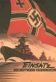 """Propaganda de Guerra alemana en español (WWII)-""""Desplegamos la Marina de Guerra"""""""