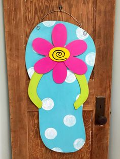 d9c8a46367db Distressed Flip Flop Door Hanger Jar Crafts