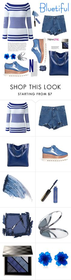 """Newchic.com: Bluetiful"" by hamaly ❤ liked on Polyvore featuring STELLA McCARTNEY, Sisley - Paris, Surratt, Miss Selfridge, Burberry, Matthew&Melka, Sweater, shoes, ootd and bags"