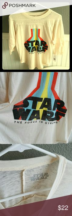 NWT STAR Wars Top! Selling a NWT STAR Wars Top! This top is super cute & retro! Size is xsmall but will fit a regular small as well! Tops