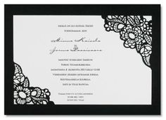 Black Swan, kutsukortti Black Swan, Black And White, 23rd Birthday, Wedding Invitations, Invites, Now And Forever, I Party, Quinceanera, Paper