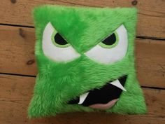 Furry monster cushion - The Supermums Craft Fair
