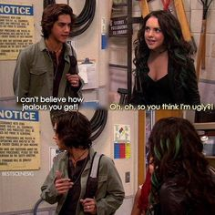 Victorious Jade and Beck Jade Victorious, Icarly And Victorious, Victorious Episodes, Victorious Jade And Beck, Victorious Quotes, Stupid Funny Memes, Funny Relatable Memes, Hilarious, Tv Funny