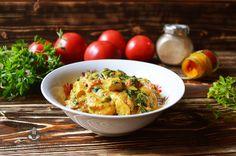 Curry z kurczakiem, szpinakiem i pomidorami