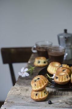 Ciambelline paradiso ai mirtilli Blueberries mini bundt cakes
