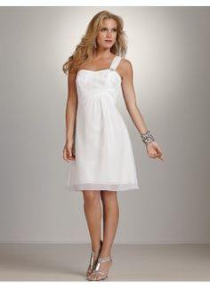 Gorgeous Sheath One Shoulder Chiffon and Lace Beach Wedding Dress