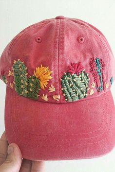 4a8099d4 Hat Embroidery, Types Of Embroidery Stitches, Vintage Embroidery,  Embroidery Patterns, Cross Stitch