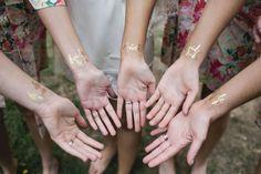 bride tribe gold temporary tattoos