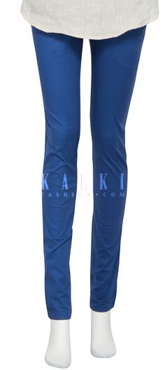 Buy Online from the link below. We ship worldwide (Free Shipping over US$100) http://www.kalkifashion.com/featuring-cigarette-pants-in-victoria-blue-only-on-kalki.html