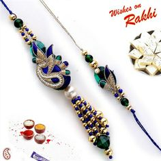 Picture of Peacock design Bhaiya Bhabhi Rakhi Set Zardozi work Quilling Craft, Quilling Designs, Paper Quilling, Quilling Ideas, Handmade Rakhi Designs, Rakhi Cards, Rakhi Making, Raksha Bandhan, Quilling Techniques