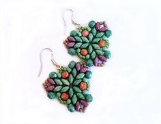Free pattern for earrings Muar