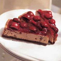 Black Forest Cherry Cheesecake Recipe | MyRecipes.com
