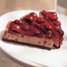 Black Forest Cherry Cheesecake Recipe | MyRecipes.com