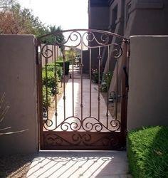 backyard iron entry gate